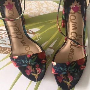 Yaro Ankle Strap Sandal - Multi Color floral Heels